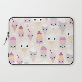 Cute kawaii summer Japanese ice cream cones and popsicle p Laptop Sleeve