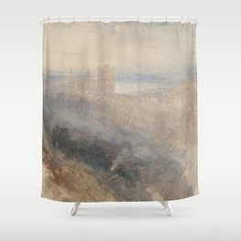 "J.M.W. Turner ""Moon over Lausanne"" Shower Curtain"
