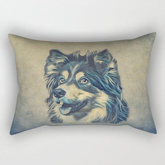 Shetland Sheepdog Painting Rectangular Pillow