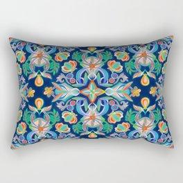 Boho Navy and Brights Rectangular Pillow