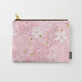 Pink paper flowers Carry-All Pouch