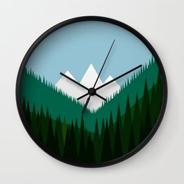 Pacific Northwest Mountains Wall Clock