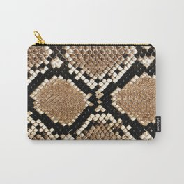 Pastel brown black white snakeskin animal pattern Carry-All Pouch