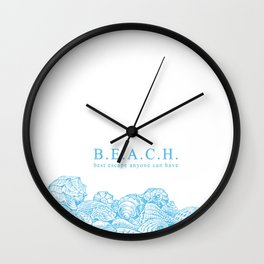 BEACH- Best escape anyone can have - Mix & Match with Simplicity of Life Wall Clock