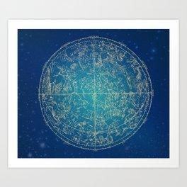 Zodiac and Stars 4-17 Art Print