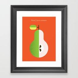 Fruit: Pear Framed Art Print
