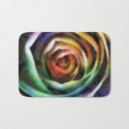 Rainbow Rose Bath Mat