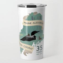 Maine Audubon Loon Count 35 Years Travel Mug