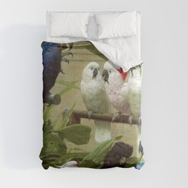 Hyacinth Macaw, Black Cockatoo, Cockatoos, Peach Cockatoo Select Committee by Henry Stacy Marks Comforters