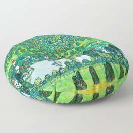 """Gustav Klimt """"Slope in a Forest on Attersee Lake"""" Floor Pillow"""