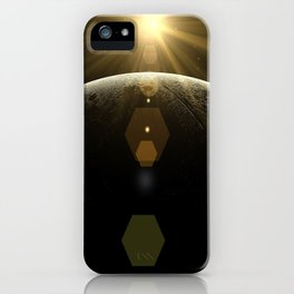 moon lens flare iPhone Case