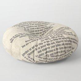 Desiderata Poem By Max Ehrmann Nr. 1001-2 Floor Pillow