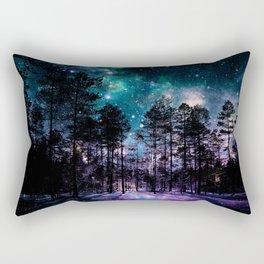 One Magical Night... teal & purple Rectangular Pillow