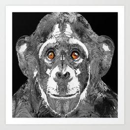 Black And White Art - Monkey Business 2 - By Sharon Cummings Art Print