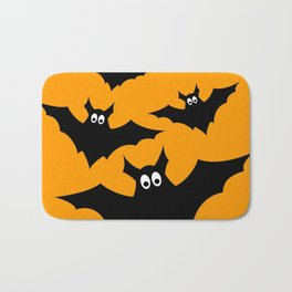 Cool cute Black Flying bats Halloween Bath Mat