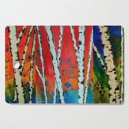 Birch Tree Stitch Cutting Board