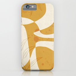 Abstract - Vase Shapes in Honey iPhone Case