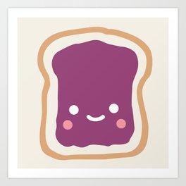 jelly sandwich Art Print