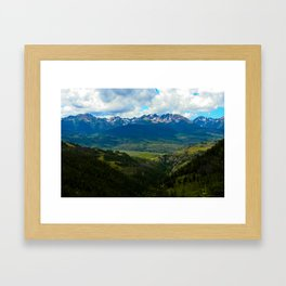 Gore Range with ranches below Framed Art Print
