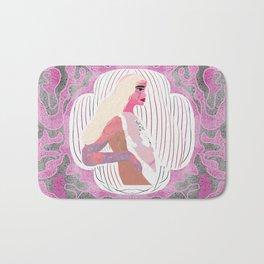 Space Blonde Girl Design Bath Mat