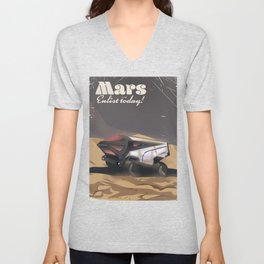 Mars, Enlist Today! Mars Rover travel poster Unisex V-Neck