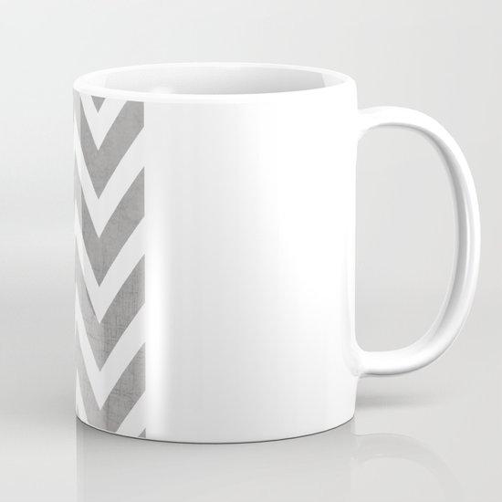gray chevron Mug