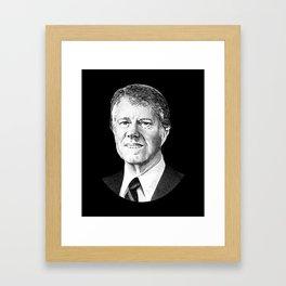 President Jimmy Carter Graphic Framed Art Print