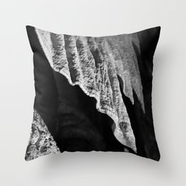 Cave Curtains Throw Pillow