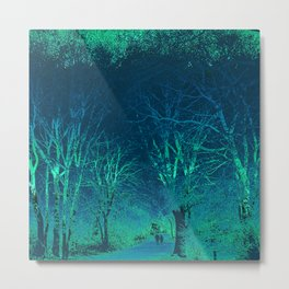 Wanderlust Psychedelic Forest (blue-green) Metal Print