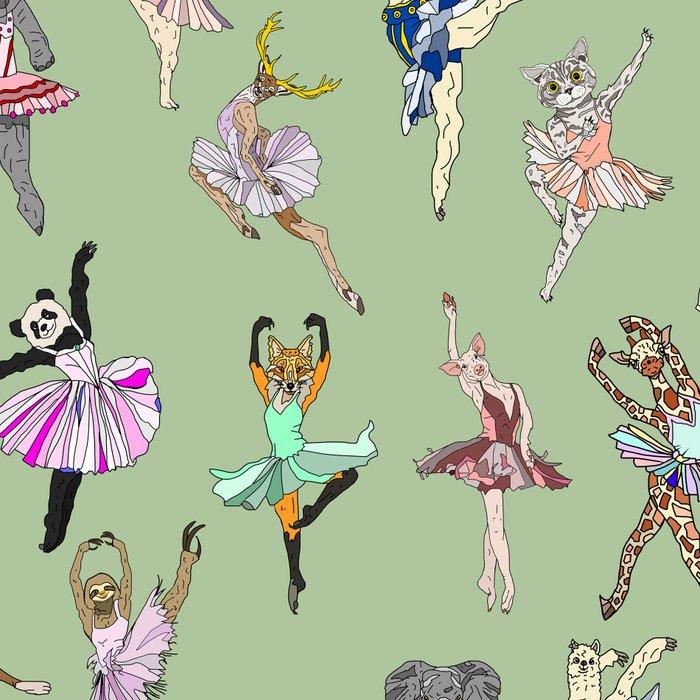 Animal Ballet Hipsters - Green Leggings