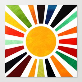 Sun Retro Art Canvas Print
