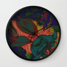 Retro Floral XIII Wall Clock