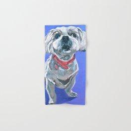 Malti Poo Dog Portrait Hand & Bath Towel
