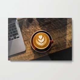 That Perfect Cup of Cappuccino Coffee Metal Print