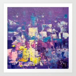 Twilight in the city Art Print