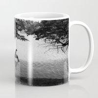 alone Mugs featuring Alone by Kerri Swayze