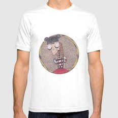 mouse club dropout. White Mens Fitted Tee MEDIUM