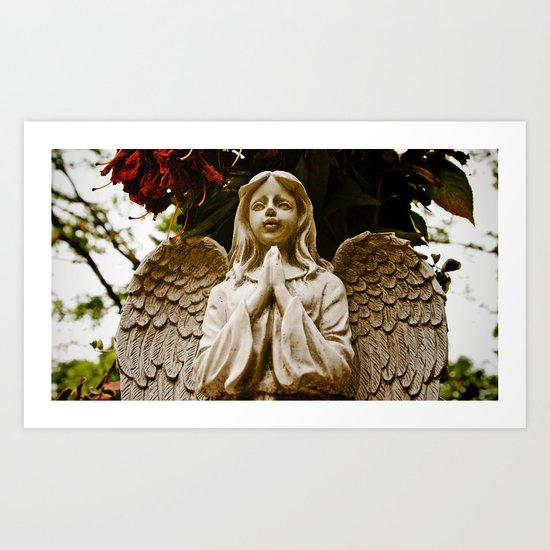 The angel prays Art Print