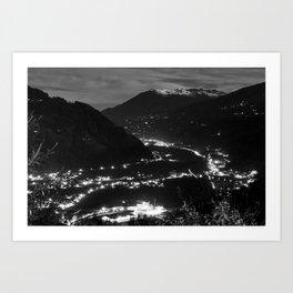 Zell am Ziller by night Art Print