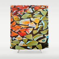 mosaic Shower Curtains featuring Mosaic by Maggie Dylan
