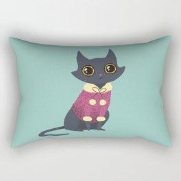 Cozy cat red Rectangular Pillow