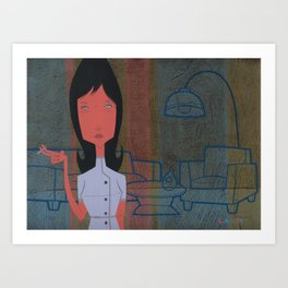 Impatiently waiting for your love Art Print
