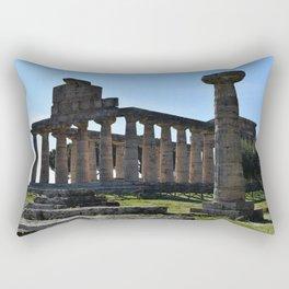 paestum i templi Rectangular Pillow