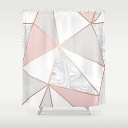 rose gold gray marble Shower Curtain