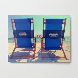 Beach Chair View Metal Print
