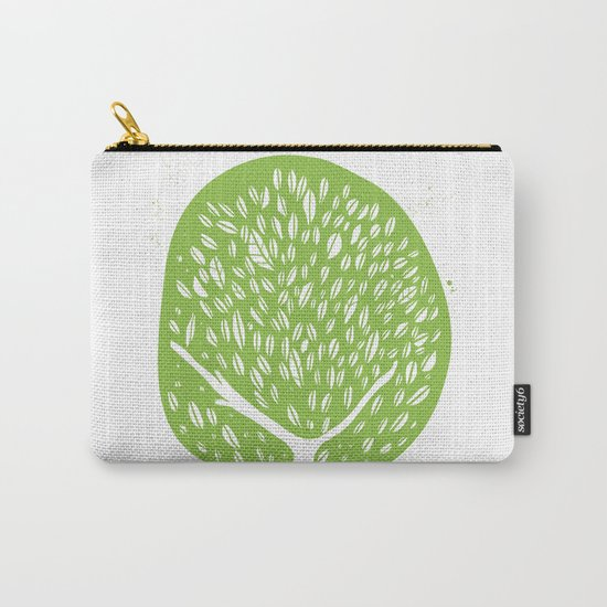 Tree of life - pea green Carry-All Pouch