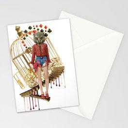 Golden Cage by Lenka Laskoradova Stationery Cards