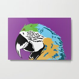 STATIONERY CARD - Parrot Metal Print