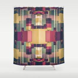 palette block Shower Curtain