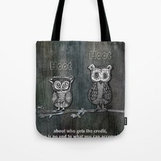 Two Hoots Tote Bag